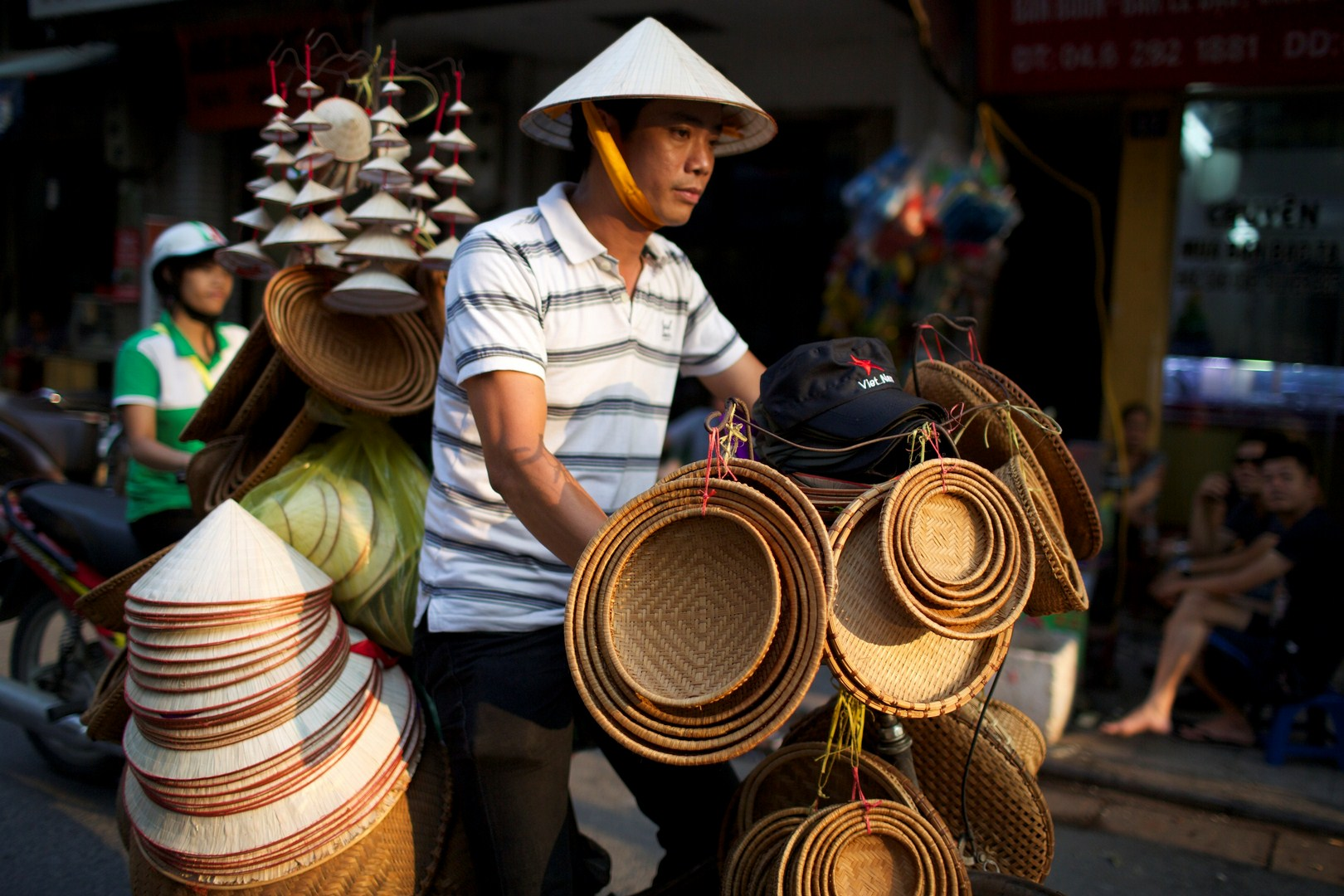 Conical hat selling